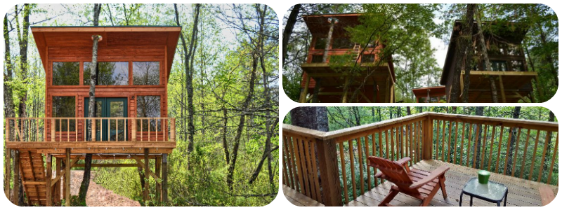 Best Treehouse Hotels in the World - Rivers Edge Treehouse Resort